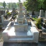 【お墓のリフォーム】『大谷石外柵を御影石に。丘カロートへ』~日野公園墓地~