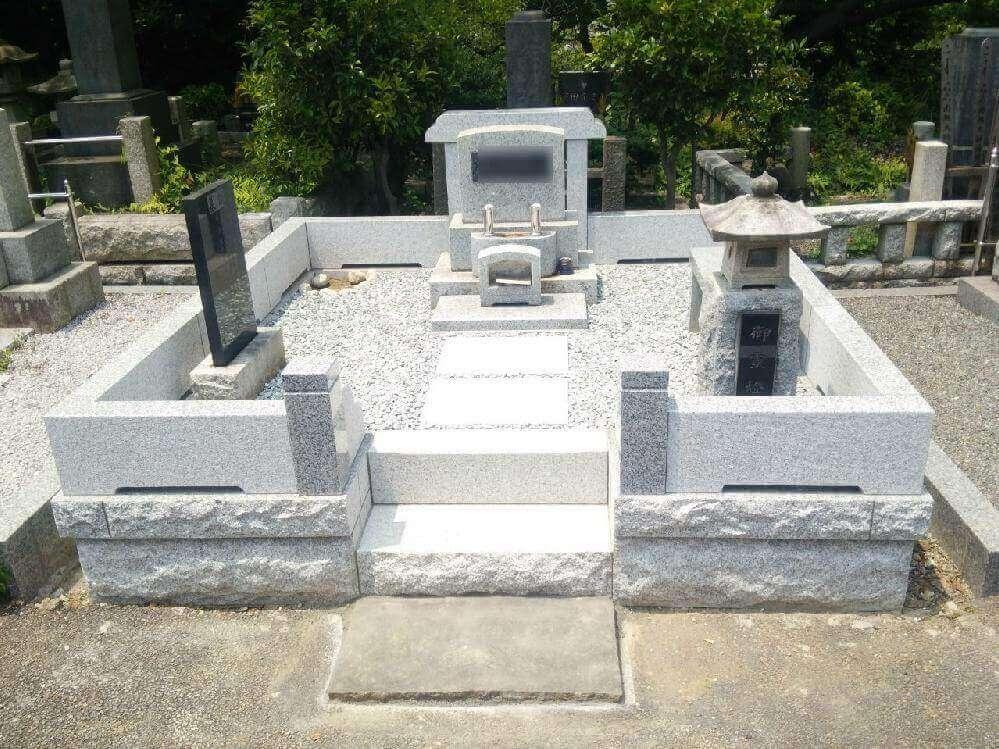 日野公園墓地での外柵リフォーム
